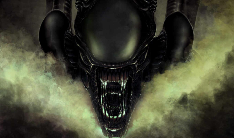 обои, чужой, мрачные, страшные, можно, aliens, ali