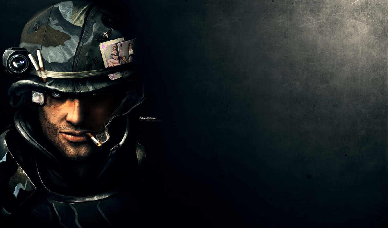солдат, colonial, сигарета, aliens, marines, marine, картинка, картинку, part, нравится, turbobit, this, game, desktop,