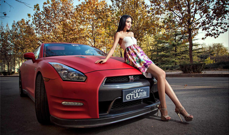 модель, korean, nissan, pictures, car, авто, photos, девушка,