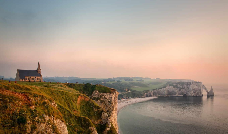 скала,  побережье, море, небо,