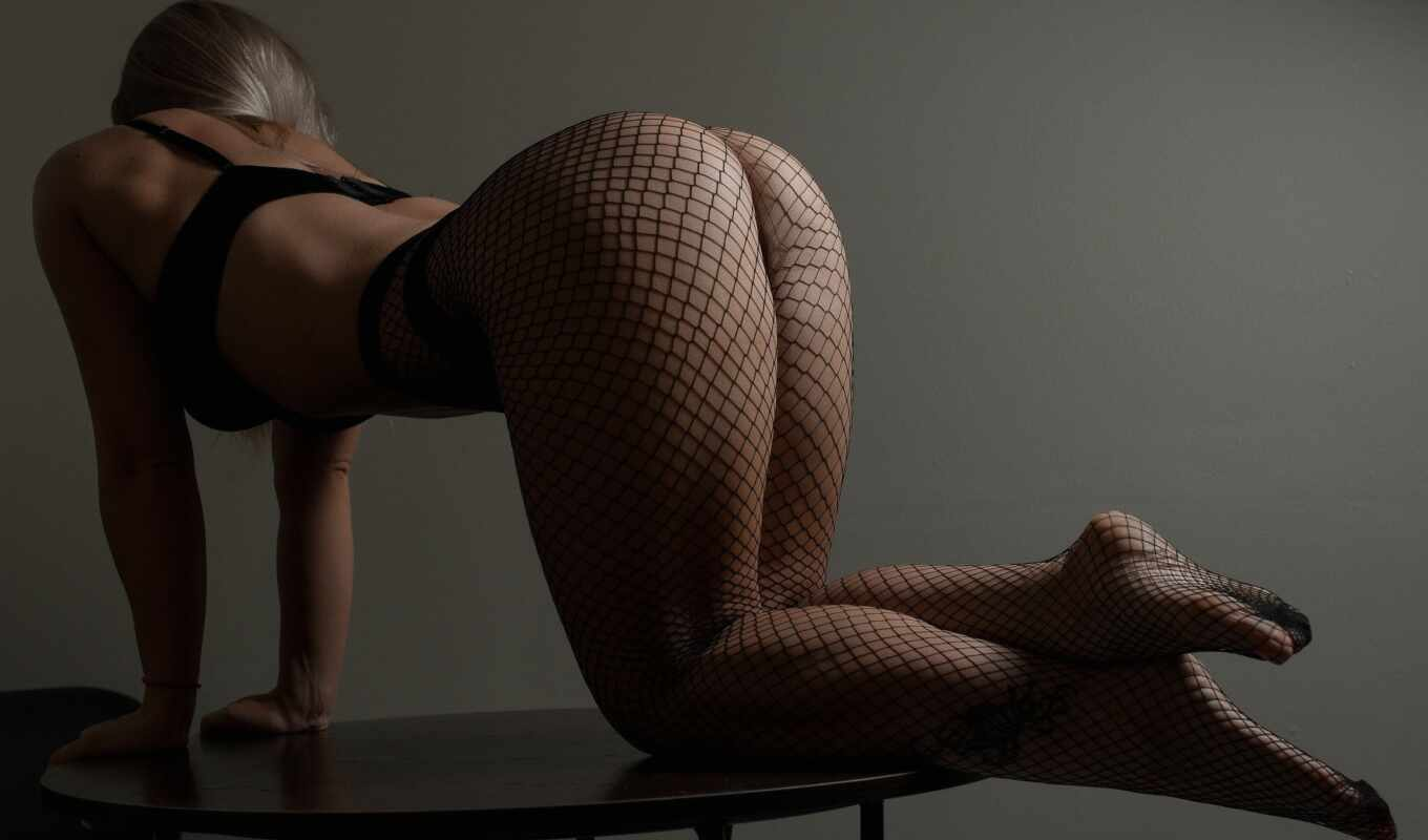 tight, user, lingerie, black, чулок, fishnet, ass, mity