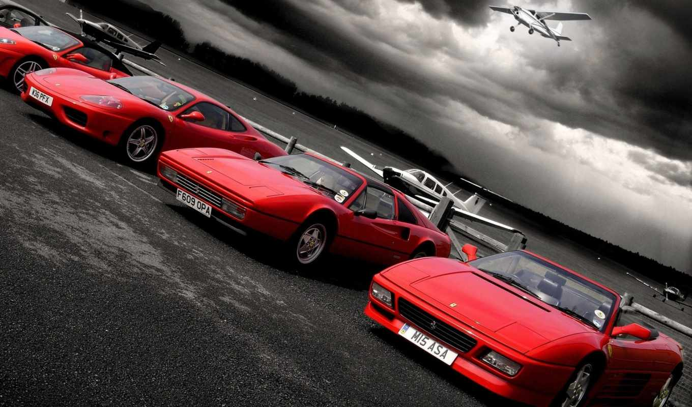 ferrari, cars, car, sports, самолеты, download, площадка, red,