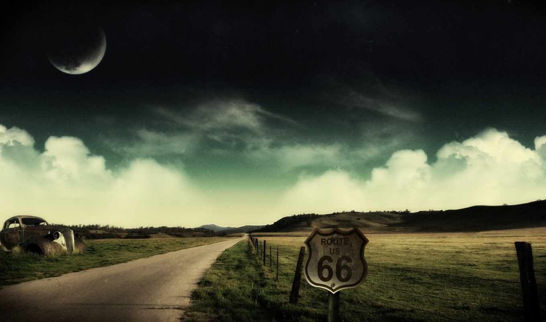пейзажи -, дорога, заставки, бесплатные, трассе, route, уходящая, вдаль,