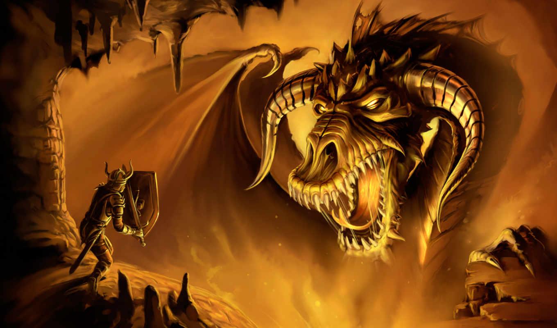 dragon, neverwinter, nights, игры, games, картинку, game, золотой, видео, фантастика, фэнтези, компьютерные, fantasy, чудовище, brave, online, рыцарь, картинка,