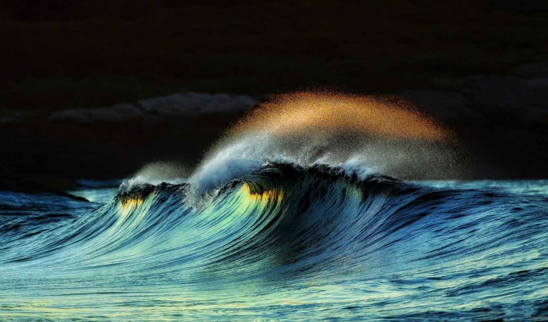 ocean, буря, волна, water, море, брызги,