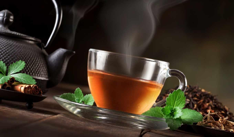 чая, cup, мята, steam, чайник, cinnamon, картинка, листочки, сварка,