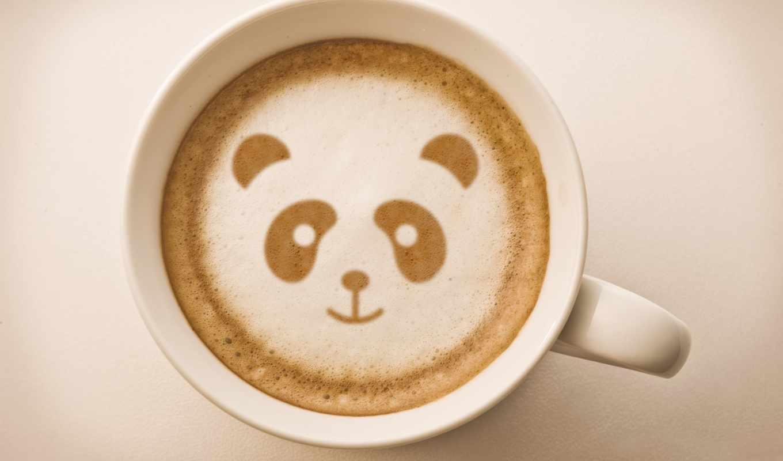 латте, art, coffee,