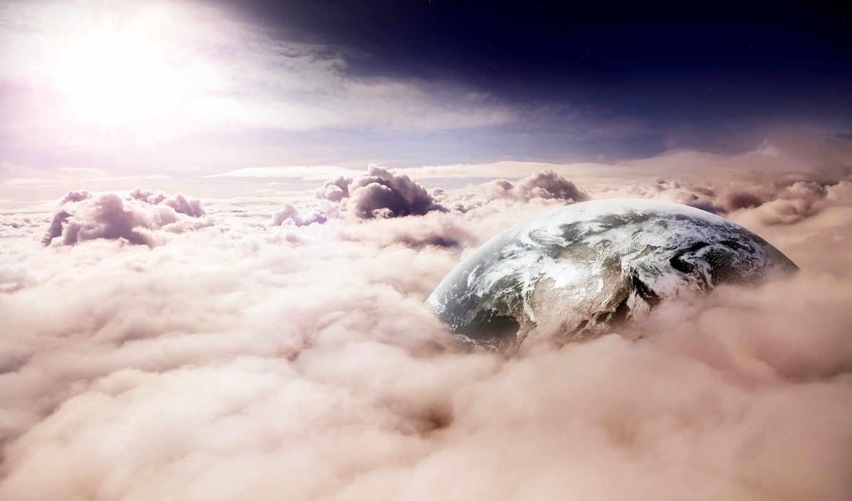 oblaka, planet, небо, land, cosmos, планеты,