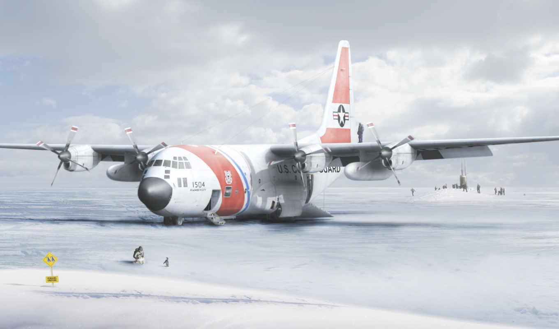 антарктида, пингвин, самолёт, табличка,