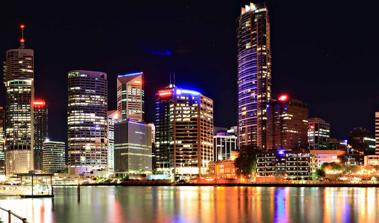 город, ночь, миро, красивый, большой, architecture, building, мегаполис, urban