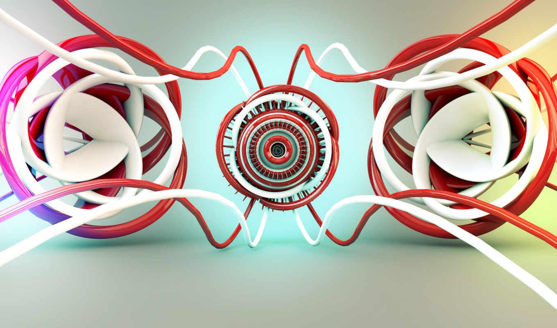 красный, белый, свечение, абстракция, картинка, abstract, iphone,
