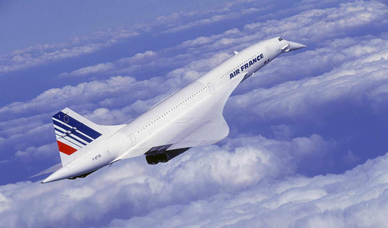 конкорд, concorde, полет, облака, aircraft, картинка, картинку, plane,