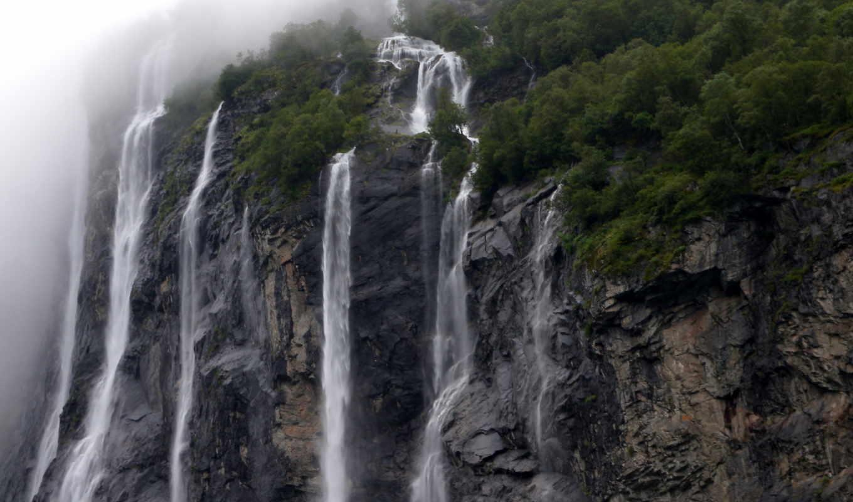 waterfalls, art, блог, pixs, природа,
