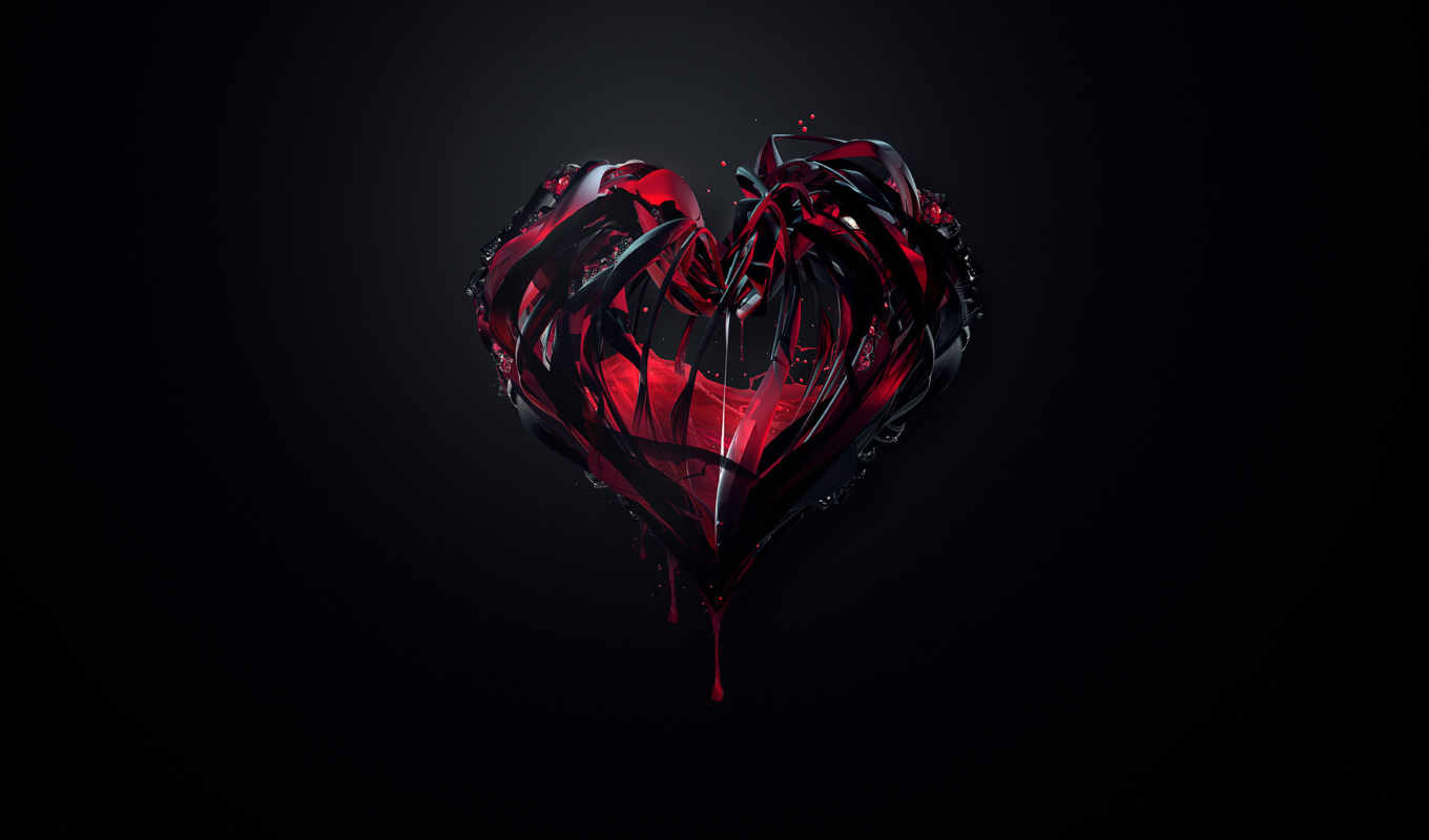 hd, wallpaper, cached, tags, blut, abstrakt, dark, herz, heart, wallpapers,