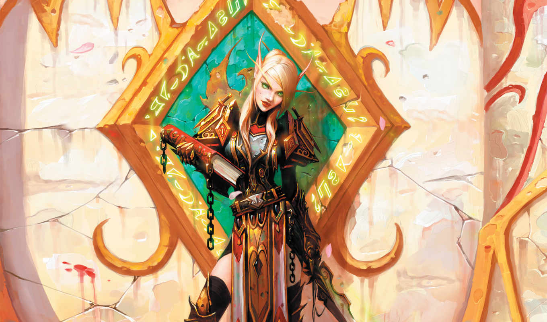 warcraft, world, wow, книга, crusade, elf, games, burning, эльфка, girl, маг, magic, игры,