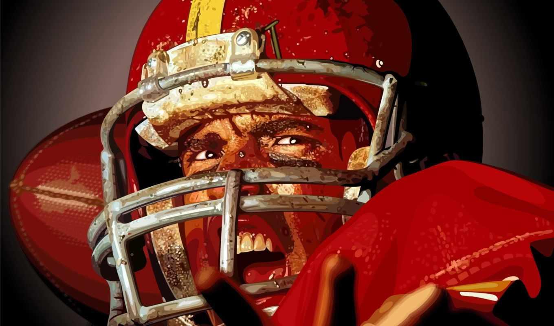 футбол, американский, спортсмен, шлем, регби, вектор, спорт, player, смотрите, nfl,