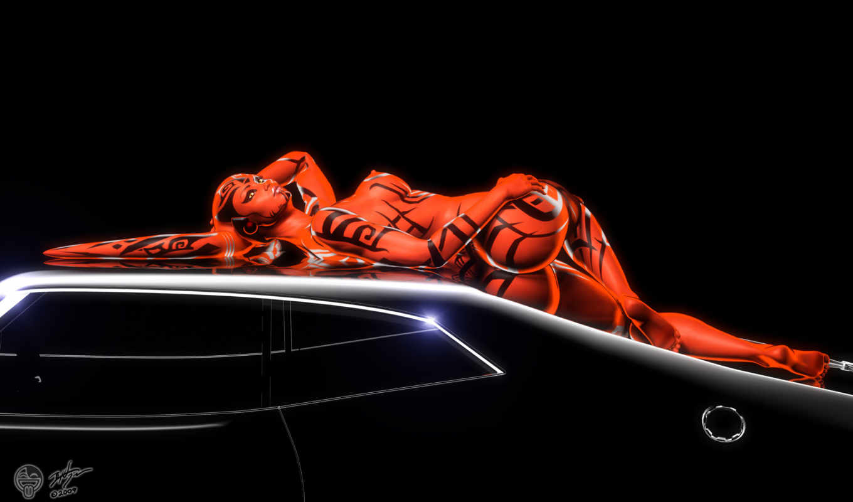 desktop, iphone, девушка, digital, грудь, sexy, красный, машина, nude, hot, попа, авто, тату, спина, ягодицы, drawing, curvy,