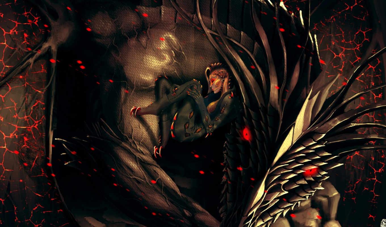 dragon, фэнтези, качества, еще, красивые, art,