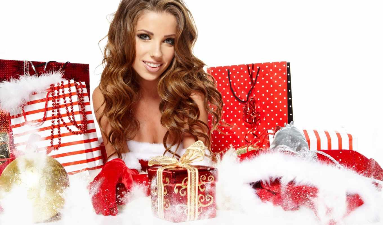 новый, год, девушка, christmas, шатенка, девушки,