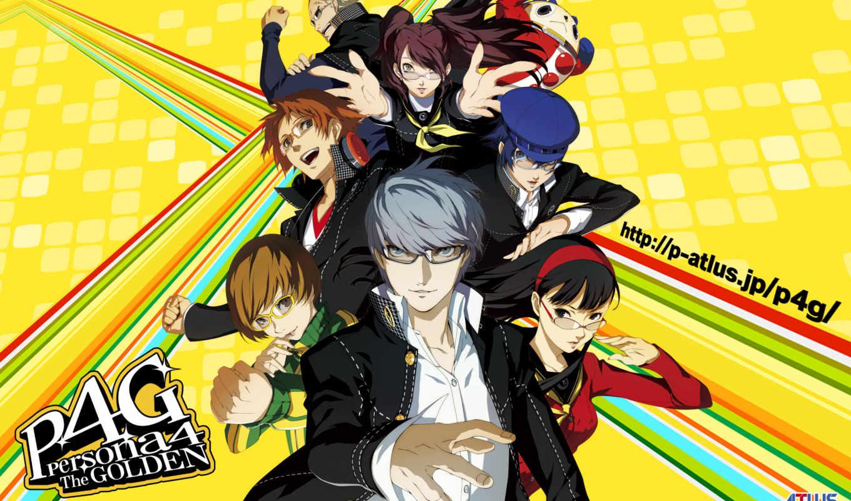 persona, золотистый, анимация, anime, adaptation,