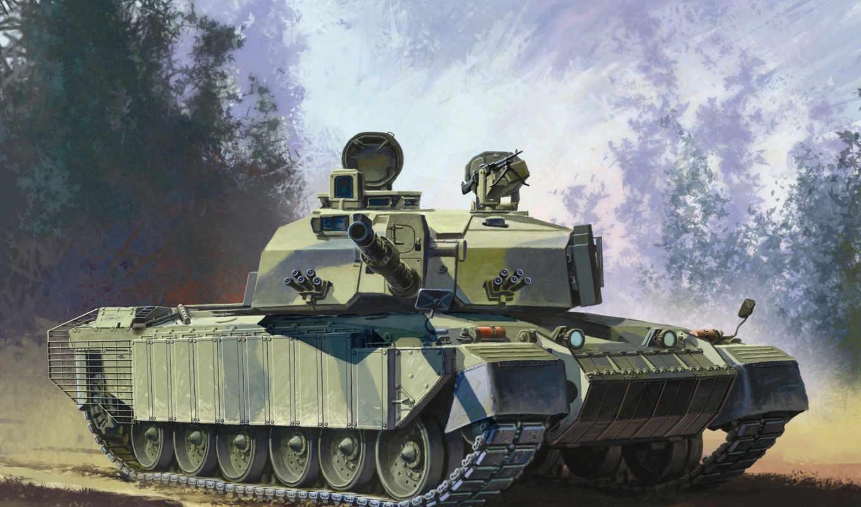 челленджер, challenger, танк, combat, главное, сухопутных, войск, великобритании, рисунок,