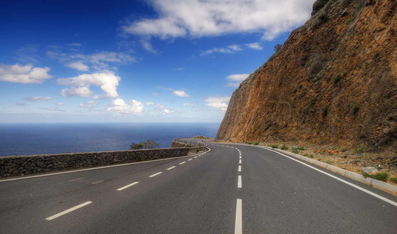 дорога, гора, hd, wallpapers, мир, море, пейзаж, экрана, часть, горный, picsfab, картинок, серпантин, изображение, широкого, фабрика, возвышенность, разметки, поворот, обоев,