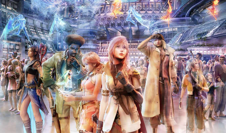 fantasy, final, аниме, full, colors, xiii, игра, игры,