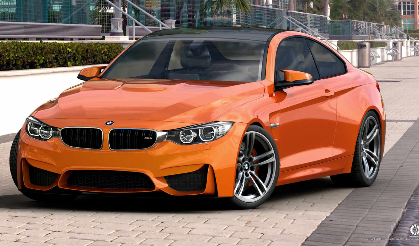 bmw, orange, studio, coupe, max, dangeruss,