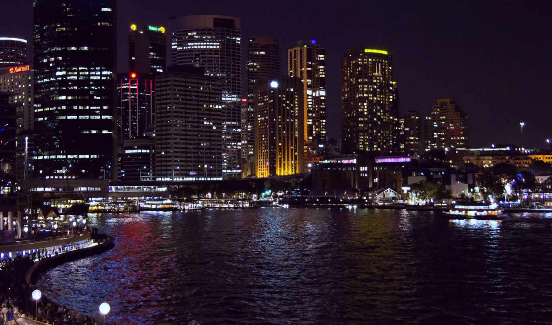 сидней, австралия, sydney, ночь,