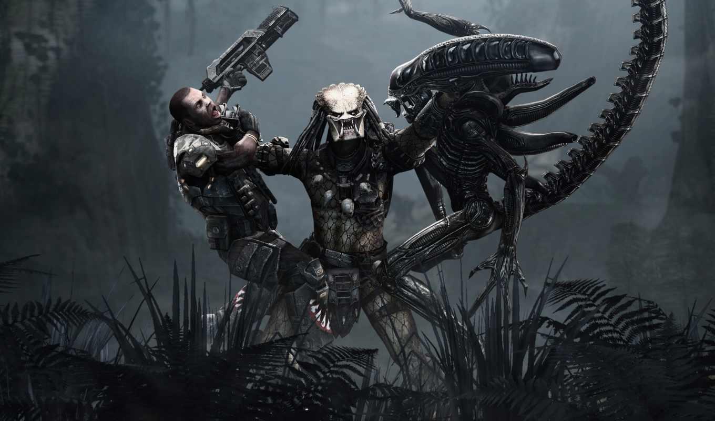 predator, игры, aliens, чужой, картинка, человек, game,
