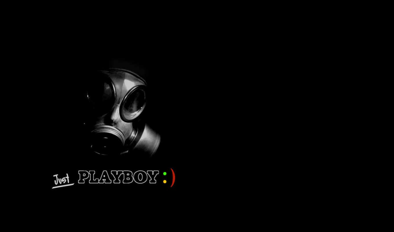 playboy, противогаз, черный, just,