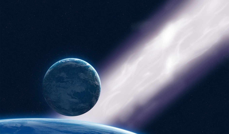 планеты, космос, звезды, картинку, картинка, кнопкой, мыши, дата, лучах, спутник, планета, правой, света, космосе,