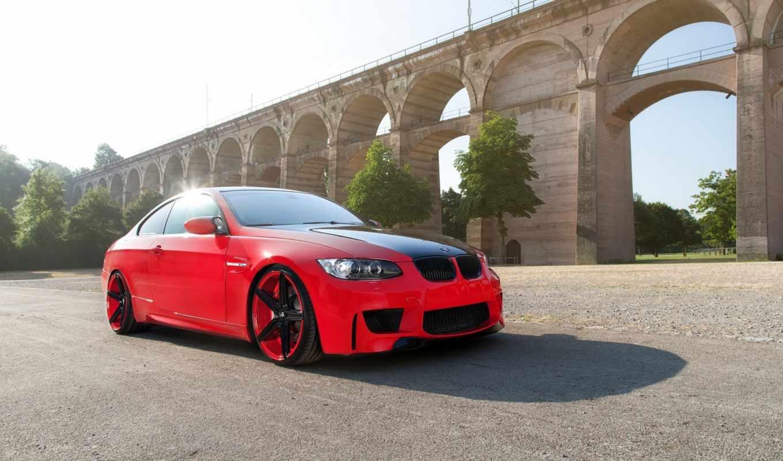 bmw, бмв, взгляд, wheels, red, сбоку, вид,