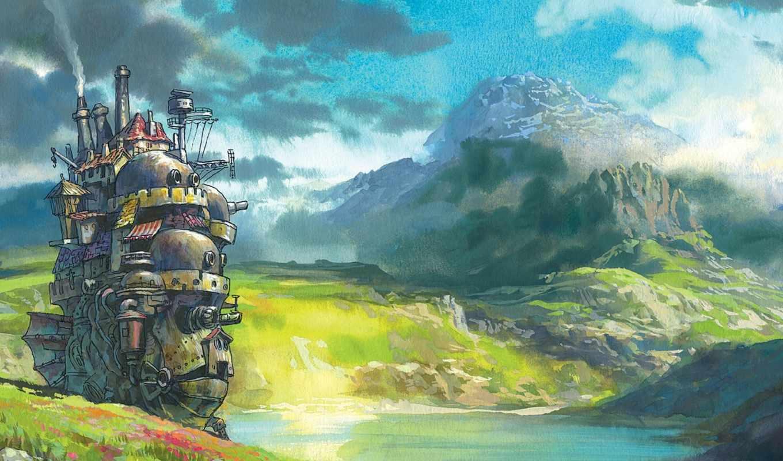 ток, замок, хаула, art, anime,