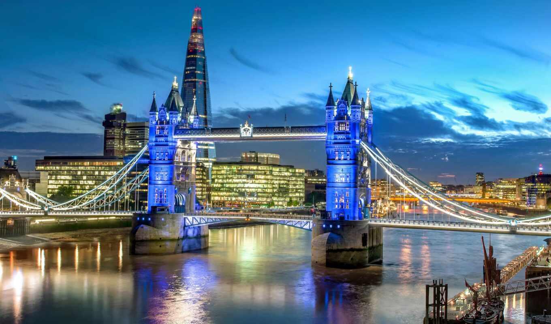 мост, london, ночь