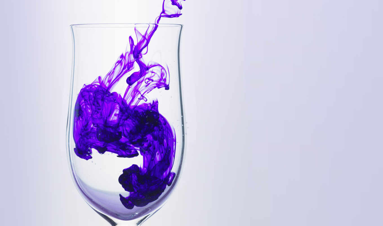glass, purple, ink, дым, abstract, фиолетовый, lila, glas, rauch,