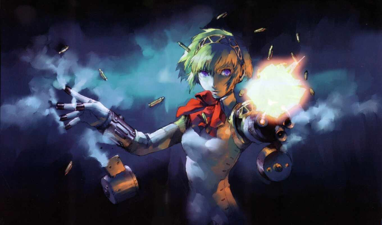 девушка, робот, оружие, киборг, девушек,