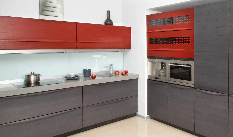 кухни, кухня, серый, современная, только, прямые, строгий, металл, интерьер,