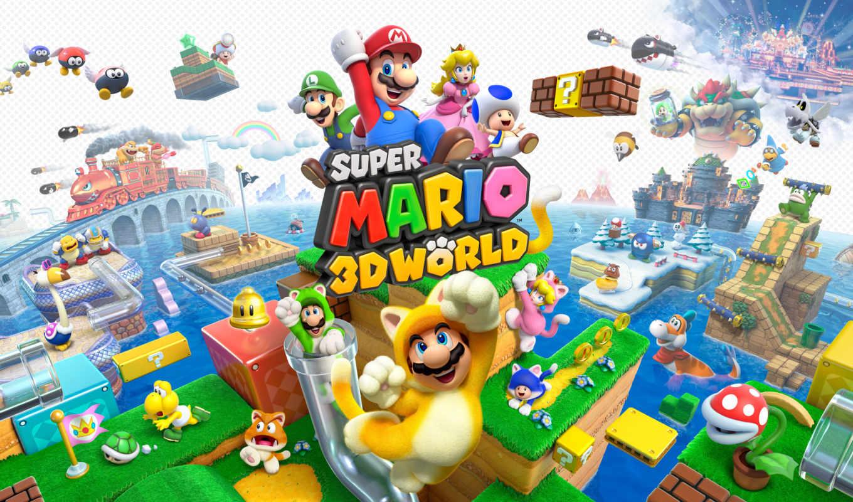марио, супер, world, nintendo, games, дек,