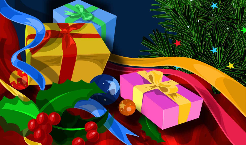 christmas, holiday, рисунок, композиция, новогодний, celebration, year,