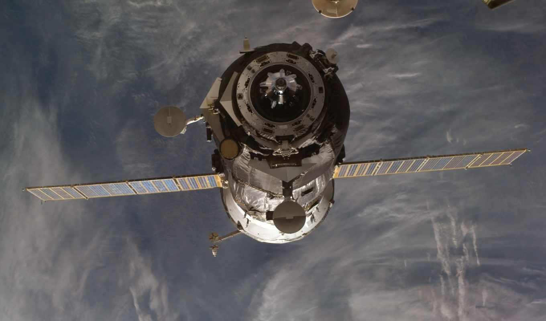 спутник, планета, орбита, локаторы, батареи, монитора, космическим, уклоном, space, смотрите,