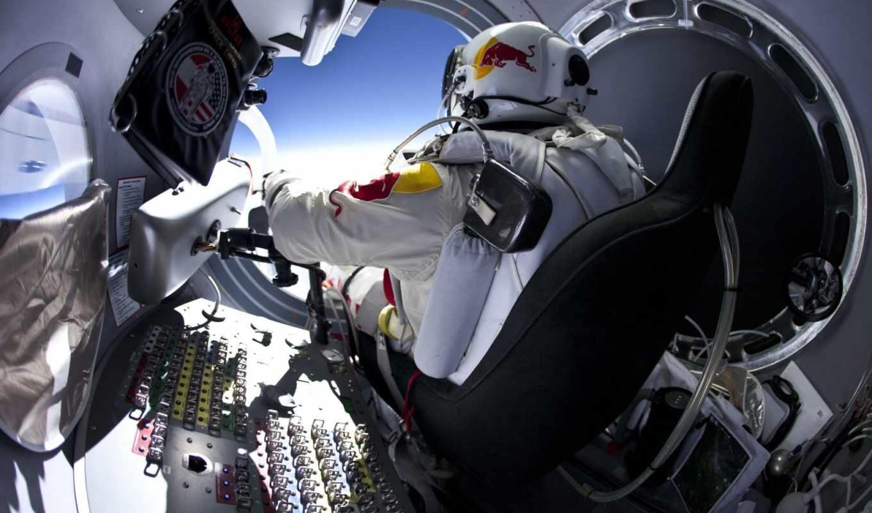 red, bull, baumgartner, felix, stratos, прыжок, картинка, вертикали, имеет, kapsule, горизонтали,