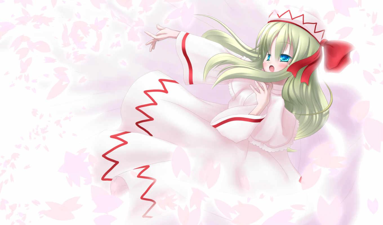 lily, white, hair, touhou, zerochan,