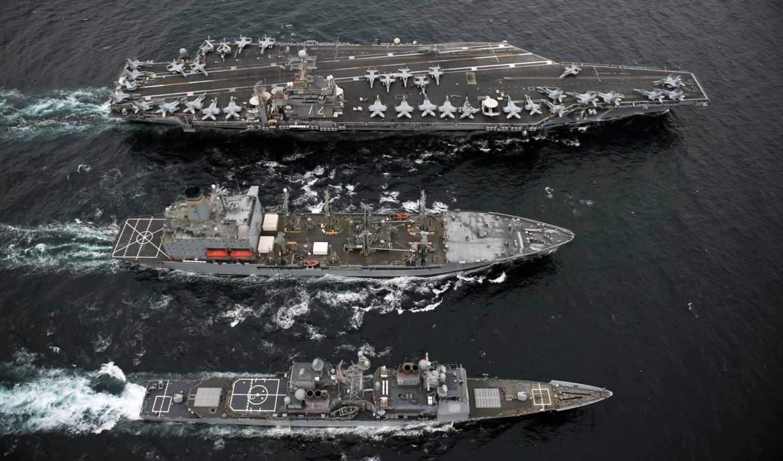 корабли, военные, авианосец, water, корабль,