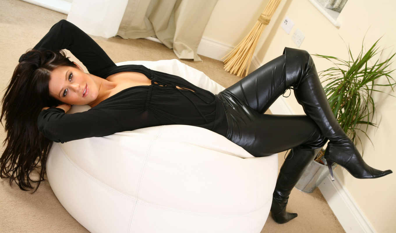 leather, black, desktop, фон, sexy, cyrus, hot, miley,