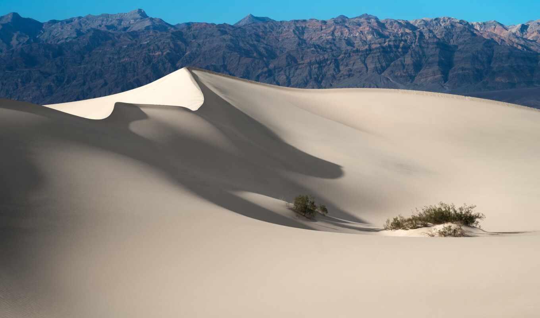 park, national, долина, смерть, песок, landscape, гора, dune, california, качество, mac