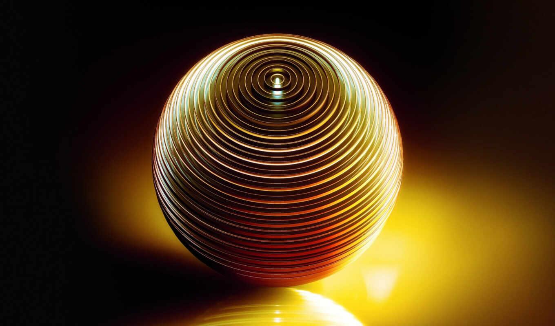 мяч, отражение, свет, art, сфера, rendering, obest, shadow, том
