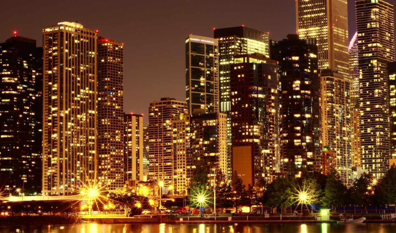 ночь, небоскрёба, lyric, город, сша, csu, horizonte, музыка, обустройство