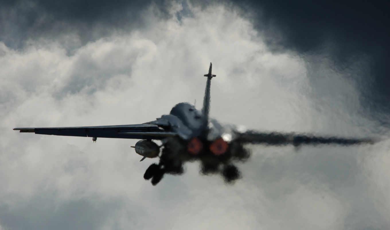 самолёт, взлёт, авиация, су, имеет, вертикали, горизонтали, картинка,