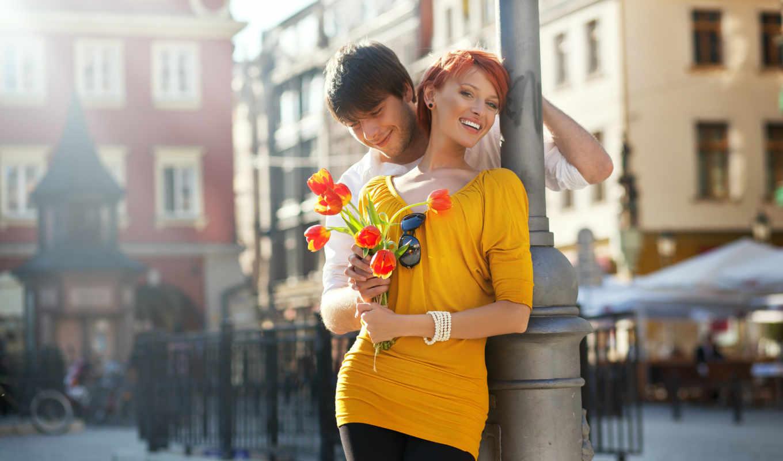 пара, парень, девушка, рыжая, смех, картинка, картинку, цветы, улыбка, ней, правой, мыши, кнопкой, выберите,